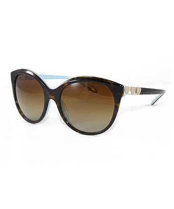 aa57df29749f Havana Blue   Brown Gradient Round Sunglasses