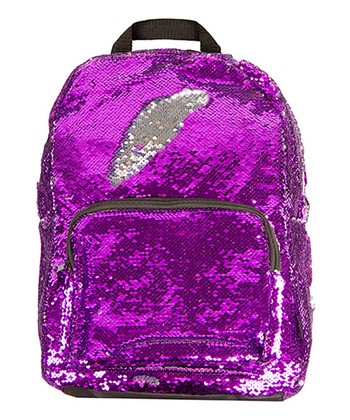 081cbf454b Purple   Silver Magic Sequin 16.5   Backpack