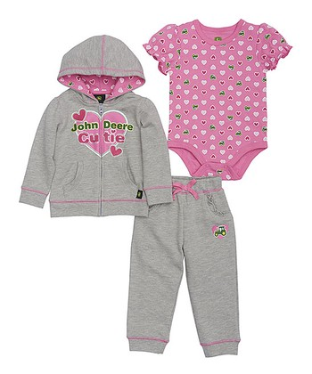 c015b840f85 Medium Pink Heart Bodysuit Set - Infant