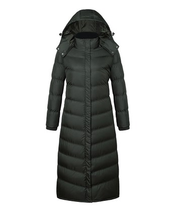 a9fe759692898 Olive Long Hooded Puffer Coat - Women. High Risk Red ...