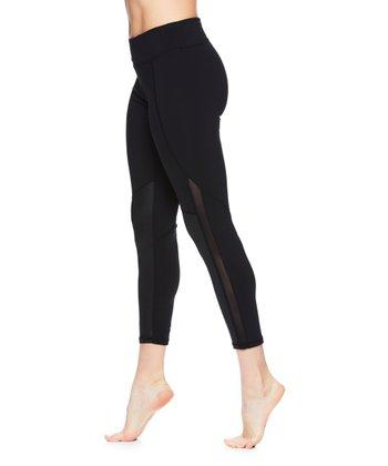 279f06f5c6abc Black Shine-Accent Mid-Rise Leggings - Women