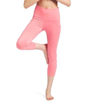 d9712ae3c50d4 Calypso Power Mesh-Inset Lattice-Accent Capri Leggings - Women