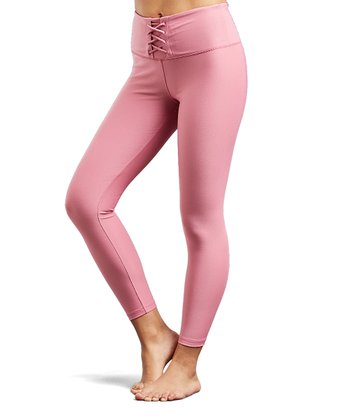 5103e751b3 Mauve Lace-Front Leggings - Women