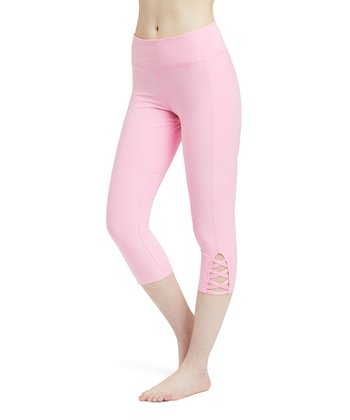 e5a6d02932 Rose Lattice-Accent Pocket Capri Leggings - Women