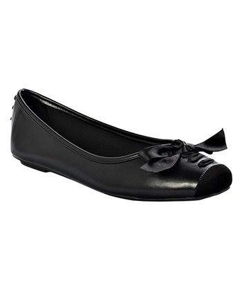 1a88e22a4c688 Black Ribbon-Accent Moni Flat - Women