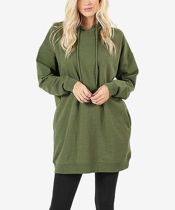 f00ec29b Light Olive Oversize Hoodie - Women