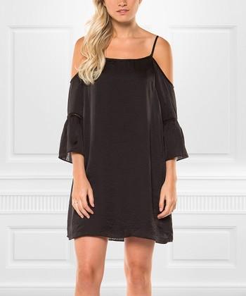 515fff862f6366 Black Shoulder-Cutout Shift Dress - Women