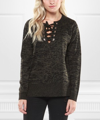 c3b1ed01153743 Forest Lace-Up Sweater - Women