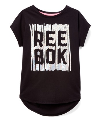 e805c20df51 Black  Reebok  Vertical Tee - Girls