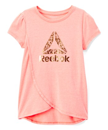 6baa3f3c402 Papaya Punch  Reebok  Delta Shine Tee - Toddler   Girls