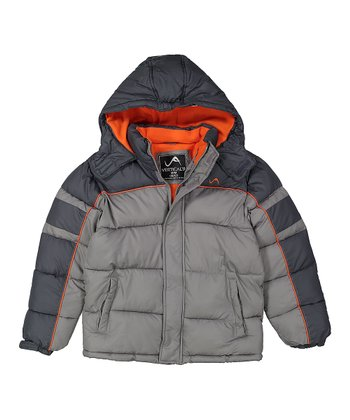 6d17ac8518c Medium Gray Bubble Puffer Jacket - Toddler