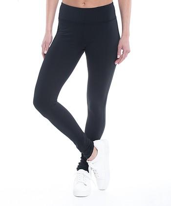 29eb972ea751cb Black Om Mid-Rise Yoga Leggings - Women