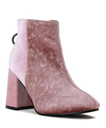 326321d710f Dusty Pink Bogie Velvet Bootie - Women