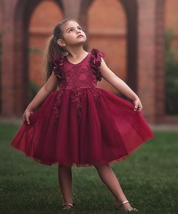 3c486cb8f Burgundy Bianca Dress - Infant, Toddler & Girls