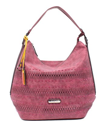 5dbb76367cc0 Purple Perforated Sloane Hobo