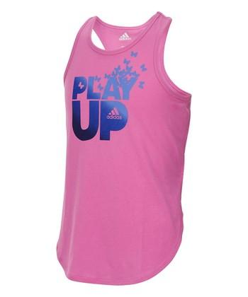 da2501f758c Medium Pink 'Play Up' Lapped Runner Tank - Toddler