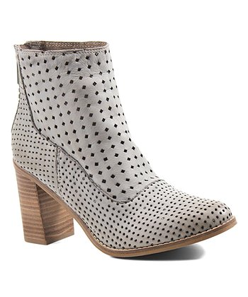 47f366f20fc Light Stone Lotus Flower Leather Ankle Boot - Women