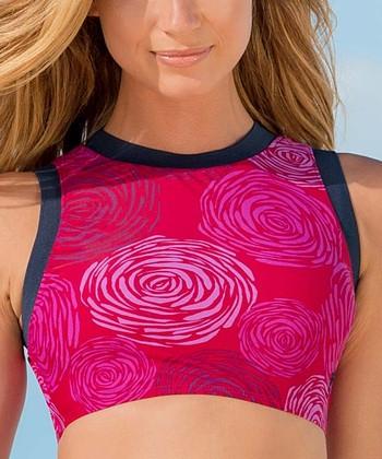 6568c757827526 Pink Sangria Tank Midkini Top - Women