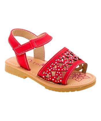 7b4353ac4b9d Red Heart Embellished Sandal - Girls