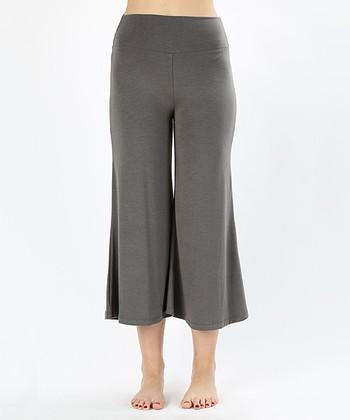 28ddb1caf87171 Mid Gray Gaucho Pants - Women