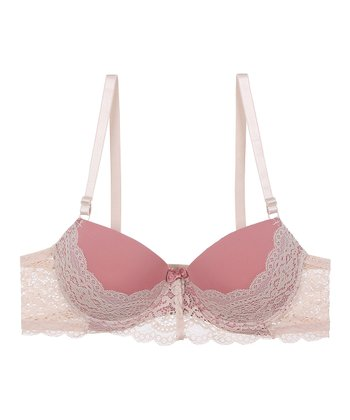 54130db743c Angel-Wing   Rose Floral Lace Demi Bra