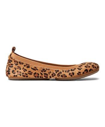f5c665958a87 Leopard Oldcore Samara Leather   Calf Hair Flat - Women
