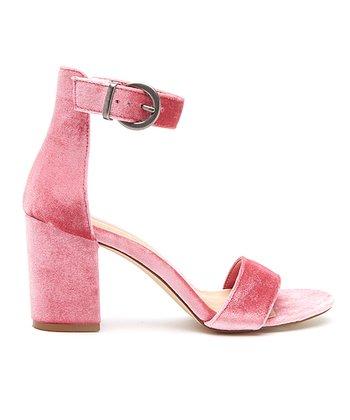 bc68a5a2f389 Pink Greta Velvet Sandal - Women
