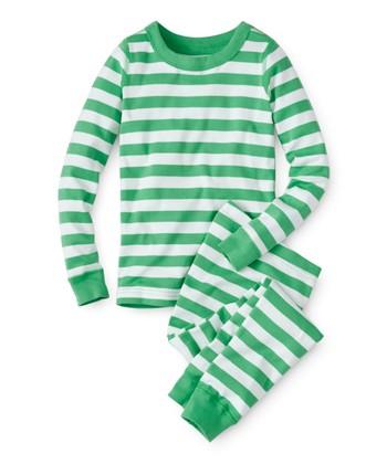 Hanna White   Happy Green Organic Cotton Long John Pajama Set - Toddler    Boys 6adee5889