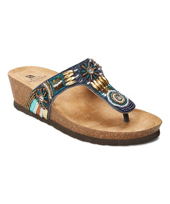fdcca1dd42b Navy Brilliant Leather Sandal - Women
