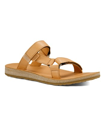 742bdfe397b5 Tan Universal Leather Slide - Women