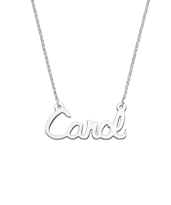 f433f7d4749 Sterling Silver Upright Script Name Personalized Pendant Necklace