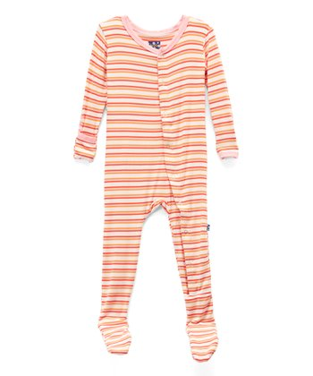 d1f0dabe4ab Pink Freshwater Stripe Footie - Infant   Toddler