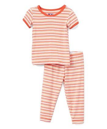 b8df2bd723a Pink Freshwater Stripe Pajama Set - Infant   Girls
