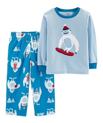 6e58f535002c Blue Yeti Fleece Pajama Set - Toddler   Boys