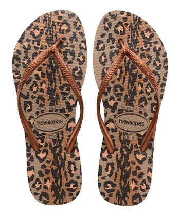 ef2cdd87d621 Rose Gold   Dark Copper Slim Animals Flip-Flop - Women