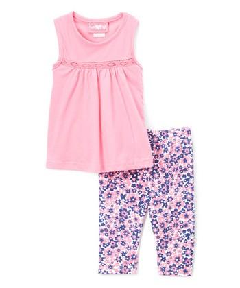 58a68738134a9 Fuchsia Tunic & Floral Leggings - Infant