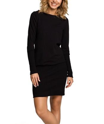 7c9ac4b5d3b Black Blouson Dress - Women · Navy Blue ...