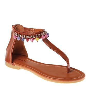 ea3270492fa Tan Bead Charm Sandal - Girls