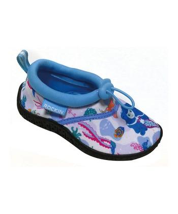 5ad407493ab35 Blue Aqua Mermaid Water Shoe - Girls