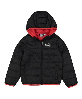 4cfa14bfd56d Black   Red  Puma  Packable Puffer Jacket - Boys