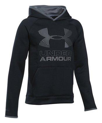Black Solid Armour Fleece® Big Logo Hoodie - Boys 7c8c1fb62
