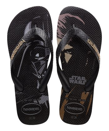 9a7fc54d3b Black Star Wars Flip-Flop - Men