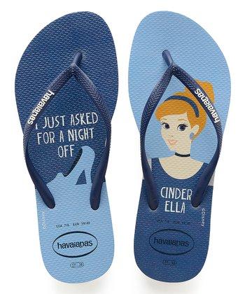 7fce4963d White   Navy Blue Princesas Flip-Flop - Women