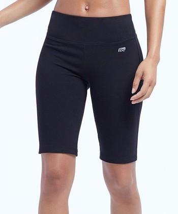 5c9e4f57b69a0 Black Tummy-Control Mid-Rise 11.5'' Relaxed-Fit Bermuda Shorts - Women