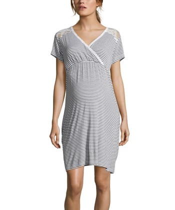 4fd1753adf3 Heather Obsidian Lace-Accent Maternity Nursing Sleep Dress · Cactus Bloom  ...