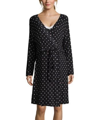 31c1017ec7a Night Sky Dot Maternity Nursing Robe   Chemise Set