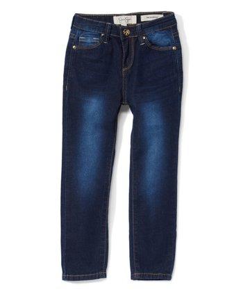 6eaf5bafe Pretty Dark Blue Faded Jeans - Girls
