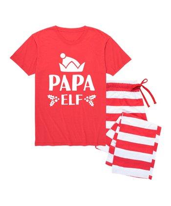 Red  Papa Elf  Pajama Set - Men f3f521ee4