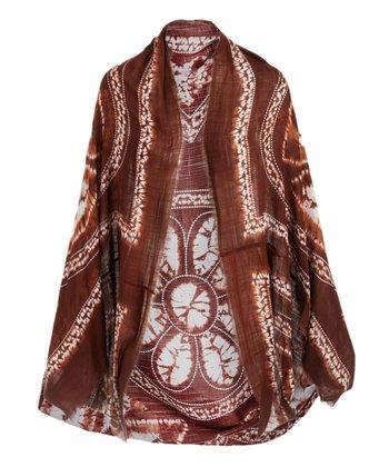 bd3fff2fd Brown Medallion Batik Kimono - Women