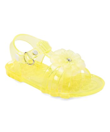 f4ad97245 Yellow Flower Jelly Sandal - Girls